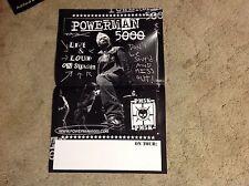 RARE!! Promo POWERMAN 5000 POSTER 17x11. Cd LP. White Zombie Rob