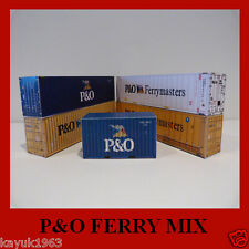 Model Shipping Containers P&O Mix Free Card Kits x 7