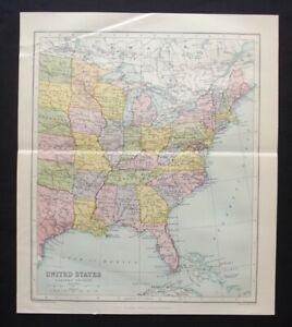 Vintage Map: United States East, John Bartholomew, Chambers's Encyclopedia, 1935