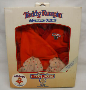 Vintage 1985 Worlds of Wonder Teddy Ruxpin Bear Adventure Sleeping Outfit NEW