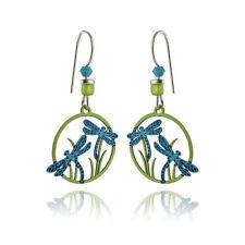 Dragonfly Earrings - 925 Sterling Silver Ear Wires - Dragonflies Meadow NEW