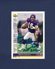 Rich Gannon signed Minnesota Vikings 1993 Upper Deck football card