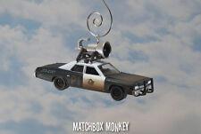 Blues Brothers Police Car Cruiser Jake & Elwood Custom 1/64 Christmas Ornament
