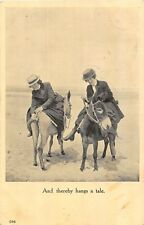 POSTCARD  COMIC    Seaside   Donkeys  Hangs  a  Tale