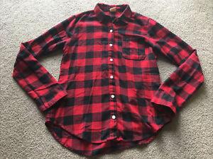 Hollister Lumber Jack Flannel Womens XS Sleepwear Top Shirt Sleep