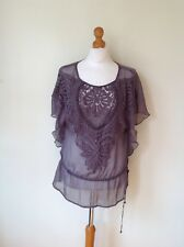 MINT VELVET LADIES SHEER TOP SIZE 10