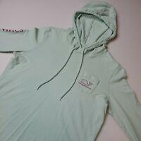 Vineyard Vines Women's Long Sleeve Hoodie T-Shirt Size M Mint Green Whale Logo