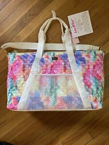 Luv Betsey Johnson Tie Dye Multi Color Quilted Overnighter Weekender Bag Tote