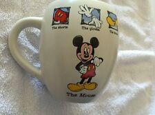 """DISNEY STORE MICKEY MOUSE """"THE MOUSE""""  LARGE WHITE CUP - NEW - MISSING PRICE TAG"""