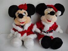 "Mickey & Minney Christmas Plush 15"" Walt Disney World"