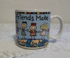 FRIENDS MAKE THE WORLD GO AROUND MUG BY STANLEY PAPEL