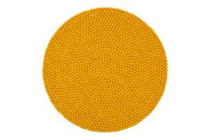 Felt Pom Pom Ball Rug - Round Area Rug - Handmade Pom Pom Carpet - Nursery Rug