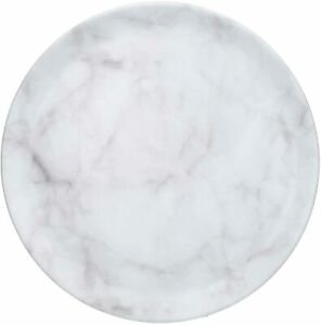 New Simple Design Marble Effect Melamine Tray Round Decorated Home Decor M-21