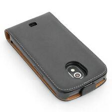 Handy tasche für Samsung Galaxy Nexus i9250 schwarz flip case cover etui hülle