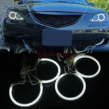 White LED CCFL Angel Eyes Halo Rings Fit For Mazda 3 M3 2004-2008 04-08 DG