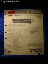 Sony Service Manual TC FX330 Cassette Deck  (#1836)