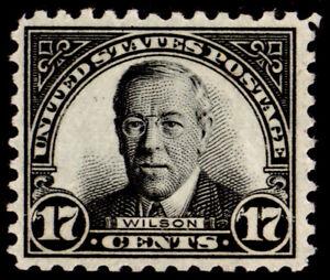 U.S. #697 17c Wilson (1931), black, MH