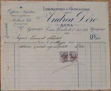 FATTURA GIOIELLERIA ANDREA DORO ROMA GIOIELLI JEWELS POSATE 1910 JEWELLERY