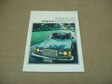 1976 Volvo 264 GL 264GL sedan sales brochure dealer literature