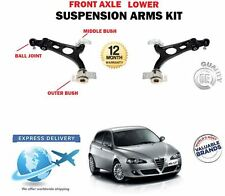 FOR AFA ROMEO 147 + GTA 2001-2010 2X FRONT AXLE LOWER LEFT RIGHT WISHBONE ARMS