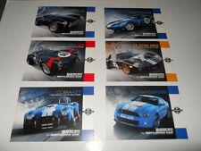 lot de 6 cartes SHELBY AC COBRA Réplica 289 - 427 - DAYTONA - Ford GT40 Mustang