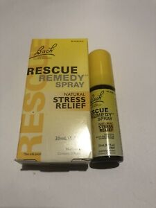 BACH New RESCUE REMEDY Natural STRESS RELIEF 20 ml SPRAY Homeopathic Exp 7/2024
