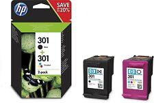>> HP 301 Multipack Original Druckerpatronen (1x Schwarz, 1 von drei Farben