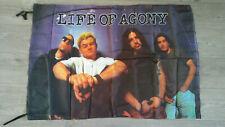 Life of Agony rare hardrock rock 1994 music flag vintage fahne blue grape