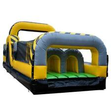 30' Venom Inflatable Obstacle Course Commercial Interactive Kids Racing Game