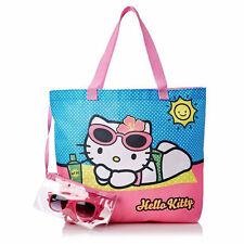 Hello Kitty Beach Tote Set - Purse Bag + Sunglasses + Pouch Pink Bolsa de Playa