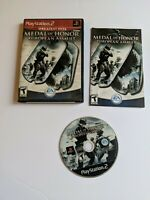 Playstation 2 PS2 Medal of Honor European Assault Complete Case Insert Manual
