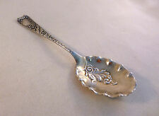 Luxembourg-Wood & Hughes Sterling Jam Serving Spoon W/ Fluted Goldwash Bowl