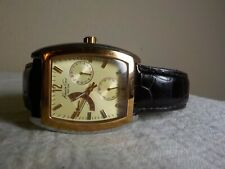 "KENNETH COLE NY TWO TONE MENS WATCH WLEATHER BAND KC1433 A126-09 10"" BAND"
