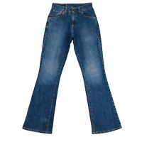 Vintage Levi's 525 89 Women Blue Stretch Regular Bootcut Fit Jeans Size W27 L32