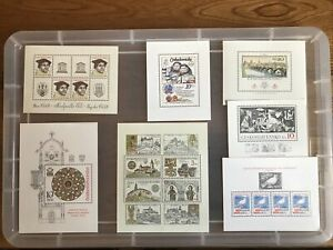 Czechoslovakia stamps unchecked collection Mint Mini-sheets (Bb190)