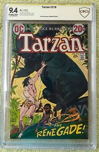 "Tarzan #216 (DC, 1/73) CBCS 9.4 NM ""signature"" Howard Chaykin"