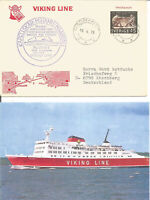 Paquetbot Cover Posted On Board Ship MS Viking 1 1972 + Photo Of The Ship U3906