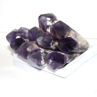 40-50g Natural Amethyst Quartz Geode Crystal Point Wand Cluster Scepter Healing