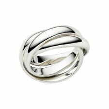 LINKS OF LONDON Ladies Essentials 925 Triple Interlinked Ring UK K NEW RRP125