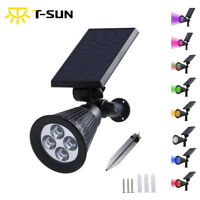 Solar Power Outdoor Wall Path Lawn Garden Security LED SpotLight Waterproof Lamp