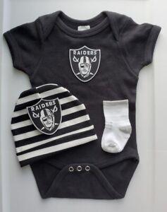 Raiders baby/infant clothes Raiders baby shower gift Raiders newborn