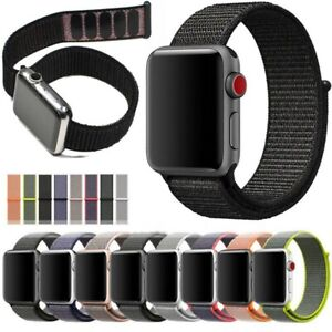 For Apple Watch Nylon Woven Strap Replacement Loop iWatch Series SE 6/5/4/3