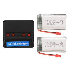 2pcs 1200mAh 3.7V Lipo Battery + 4ports Charger for Syma X5HW X5HC RC Quad BC670