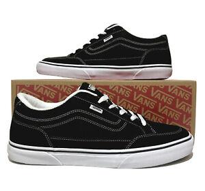 Vans Bearcat Skateboarding Men's Size 11.5 Black White Casual Skate shoes