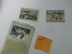 US Federal Duck Stamps ,1975,1977,and 1978, all $5 face