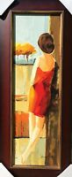 ADRIANA NAVEH SERIGRAPH ON PANEL HAND S/N CUSTOM FRAMED