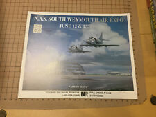 original AIRSHOW POSTER -AIR EXPO 1993 -NAS SOUTH WEYMOUTH -- SIGNED -steve tack