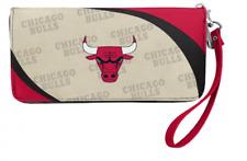 Chicago Bulls NBA Women's Curve Zip Organizer Wallet  / Purse