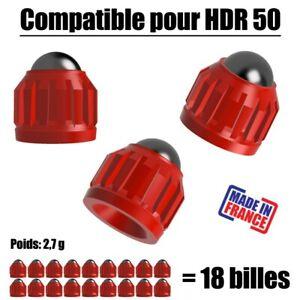 18 Slugs pour T4E HDR50 CO2 Umarex cal.50 bille 8mm poids 2,7g - Patriot Rouge