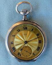 Face Pocket Watch Antique Lip Open
